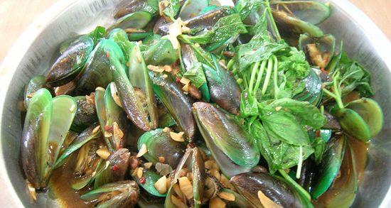 台湾のムール貝
